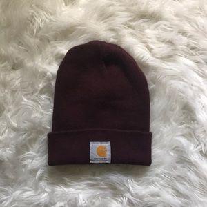 Carhartt Maroon Acrylic Watch Hat